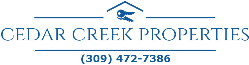 Cedar Creek Properties, LLC P. O. Box 1571 Peoria, IL 61655 309-472-7386 Logo